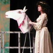 """Marion and her trust """"Huff"""" horse"""